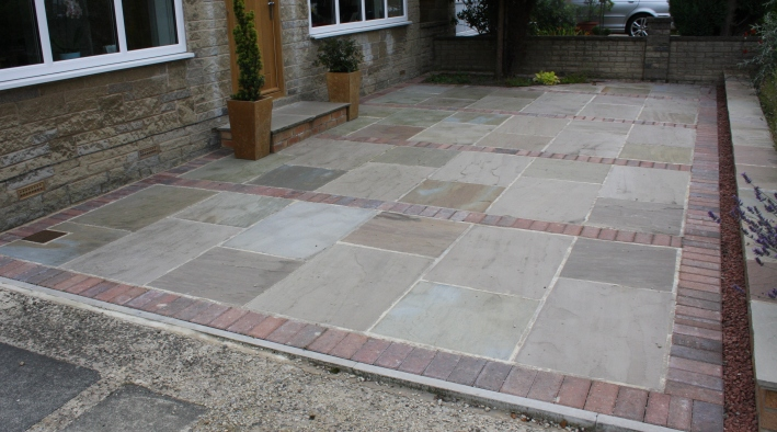 Indian Stone Paving, Otley - 1